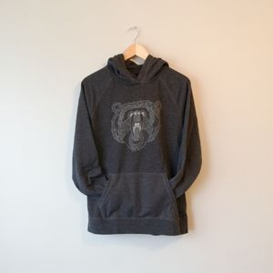 ☀️The North Face Bear Graphic Hoodie- Grey- Size L